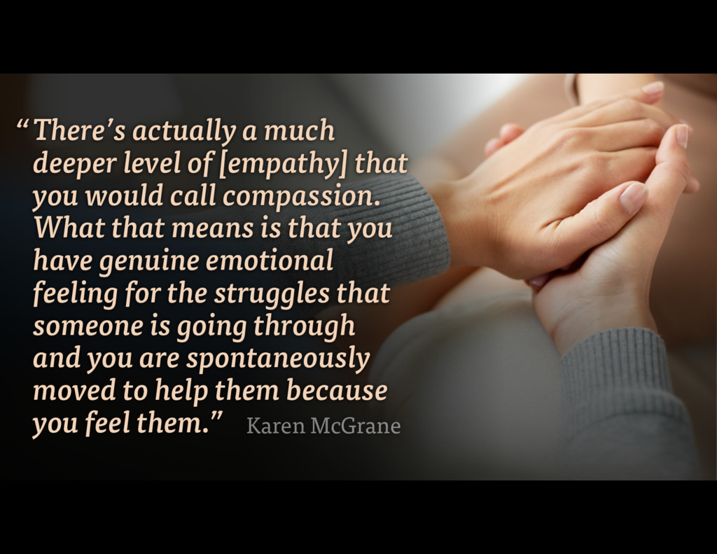 There's actually a much deeper level of [empath...