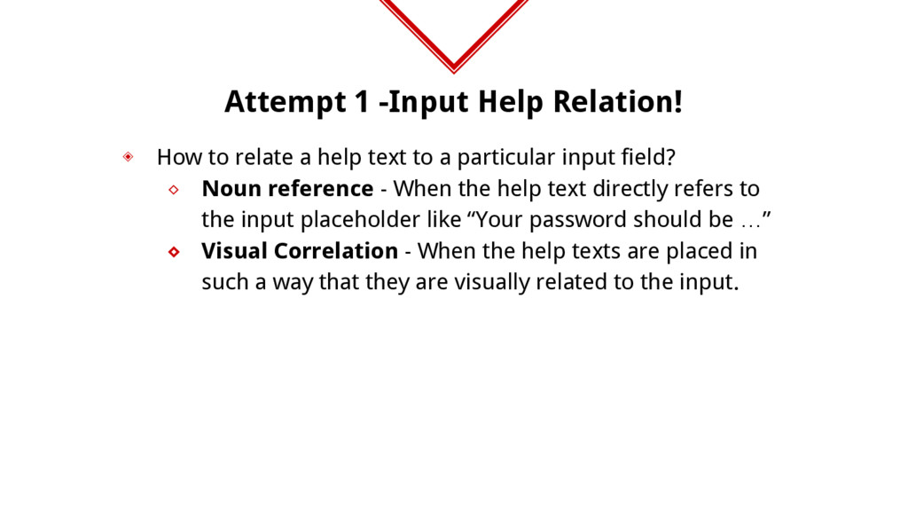 Attempt 1 -Input Help Relation! ◈ How to relate...