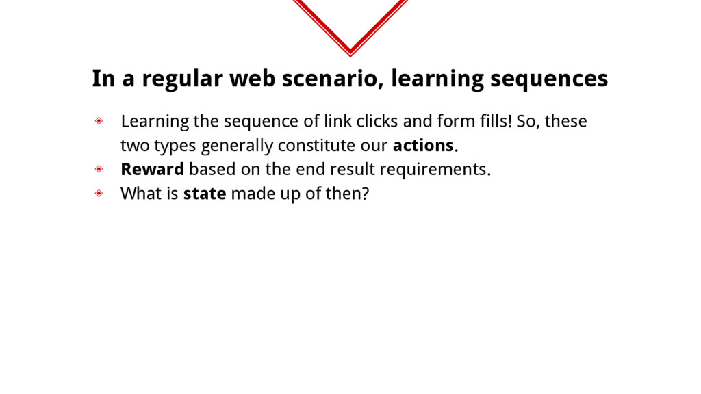 In a regular web scenario, learning sequences ◈...