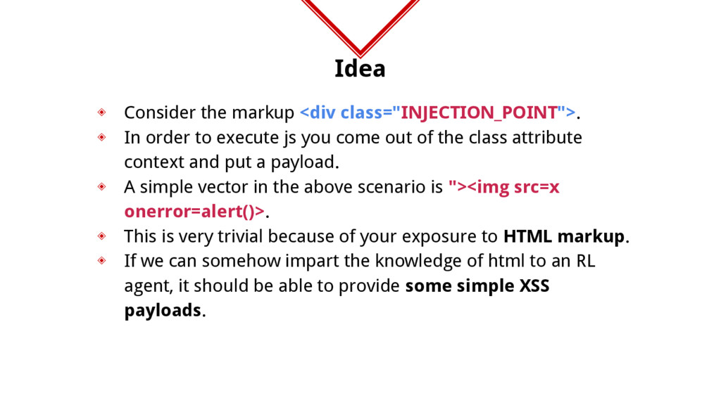 "Idea ◈ Consider the markup <div class=""INJECTIO..."