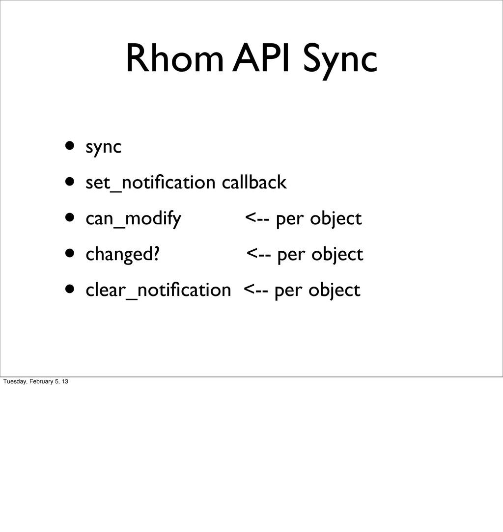 Rhom API Sync • sync • set_notification callback...
