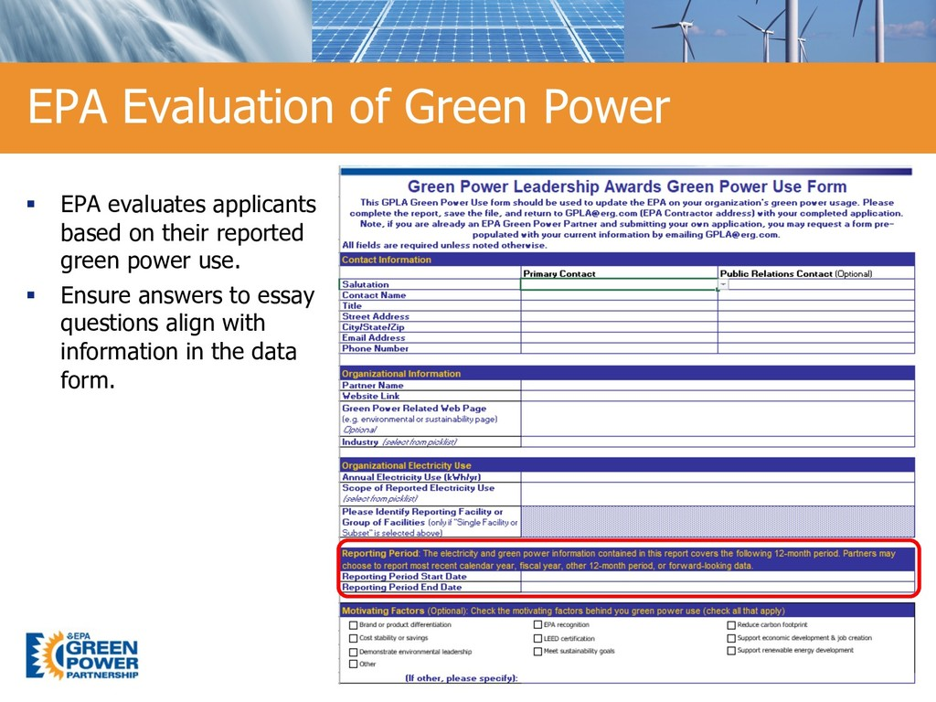 15 EPA Evaluation of Green Power 15 § EPA evalu...