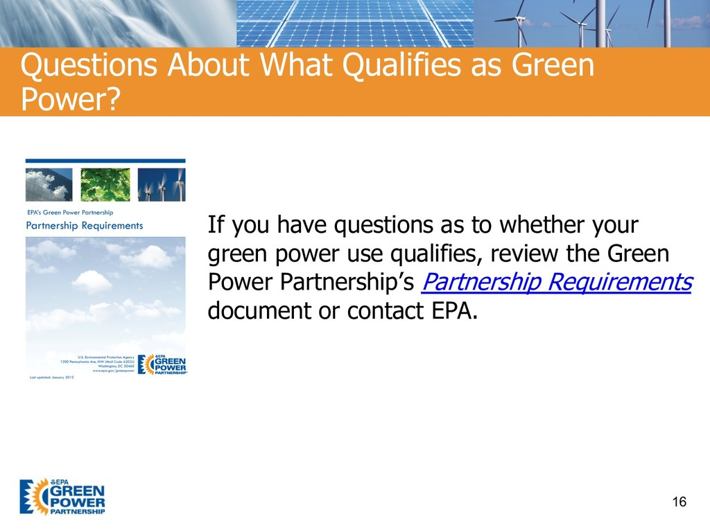 If you have questions as to whether your green ...