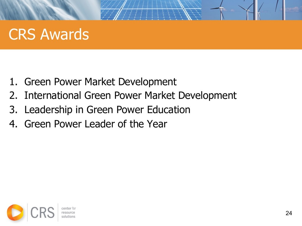 1. Green Power Market Development 2. Internatio...