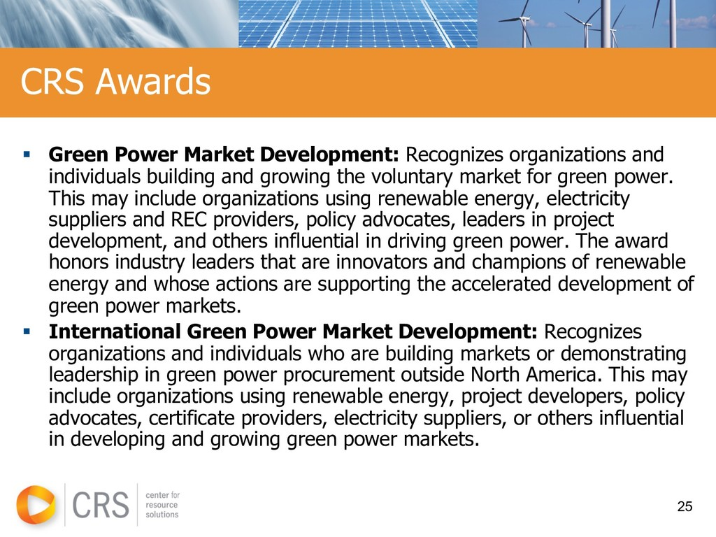 § Green Power Market Development: Recognizes or...