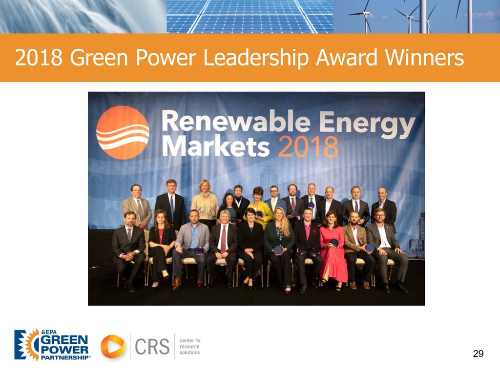 2018 Green Power Leadership Award Winners 29