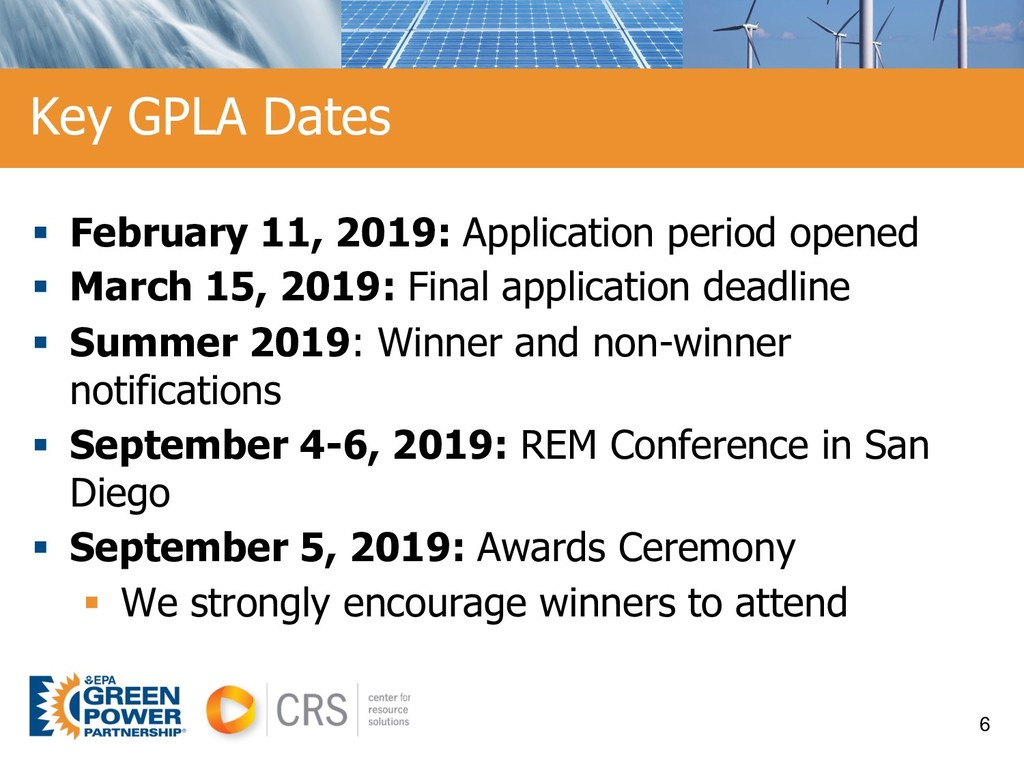 § February 11, 2019: Application period opened ...