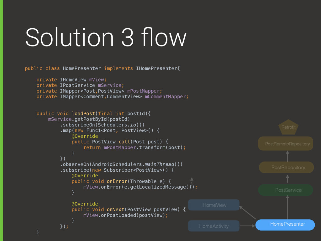 Solution 3 flow public class HomePresenter imple...