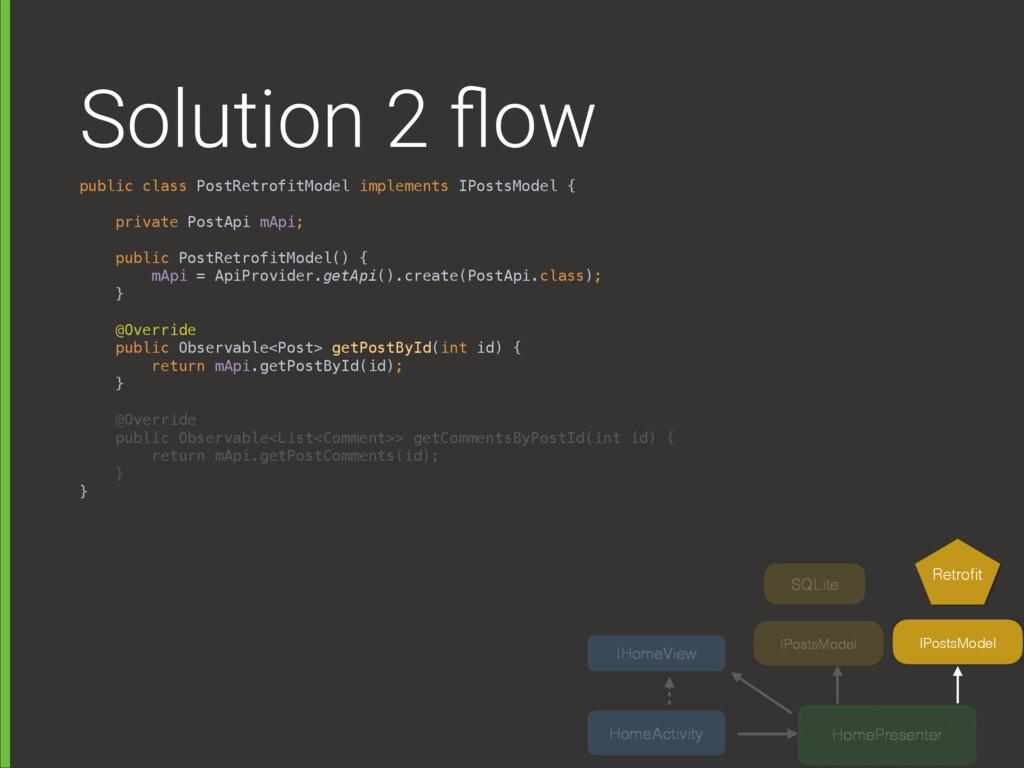 Solution 2 flow public class PostRetrofitModel i...