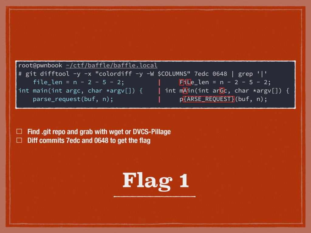 Flag 1 Find .git repo and grab with wget or DVC...