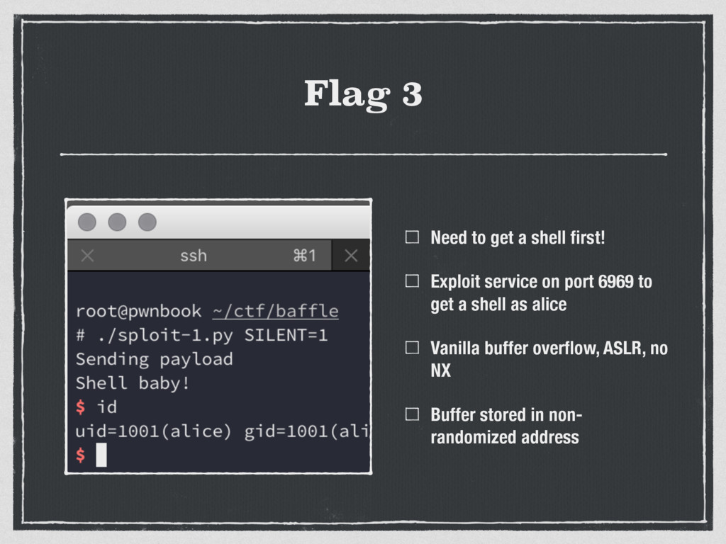 Flag 3 Need to get a shell first! Exploit servic...