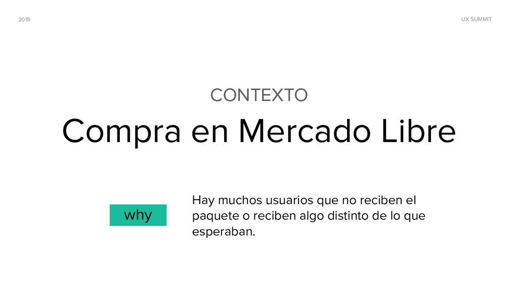 2019 UX SUMMIT CONTEXTO Compra en Mercado Libre...