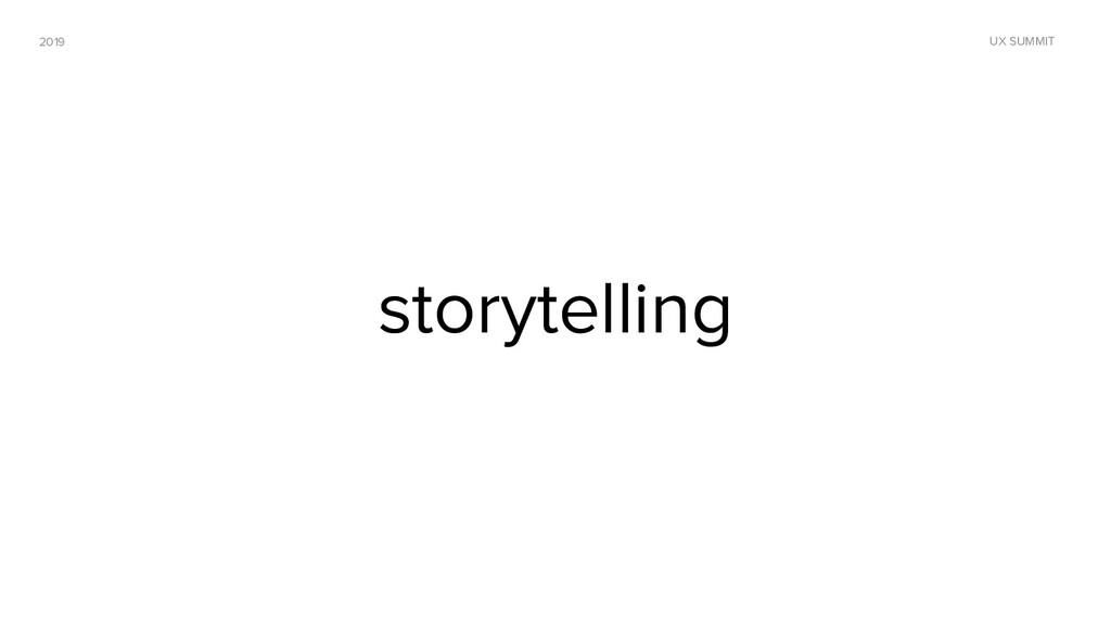 2019 UX SUMMIT storytelling