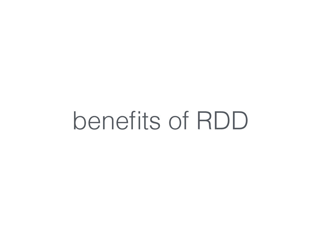 benefits of RDD
