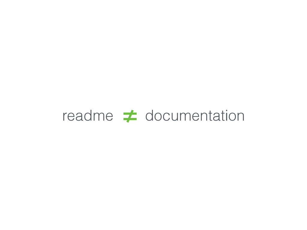readme documentation
