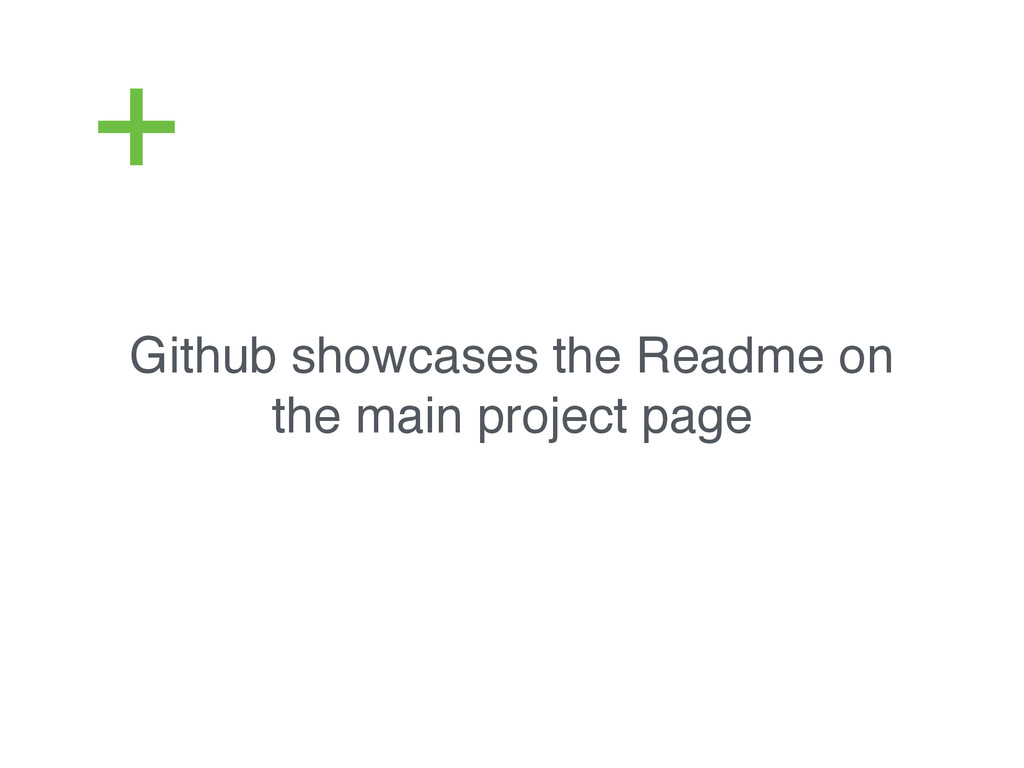 Github showcases the Readme on the main project...
