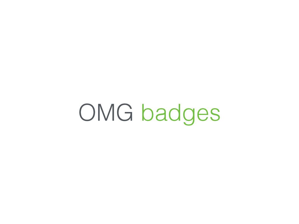 OMG badges