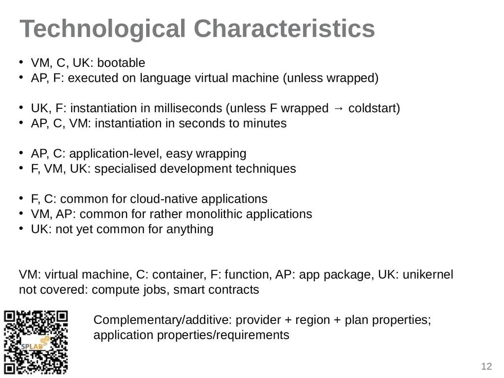 12 Technological Characteristics ● VM, C, UK: b...