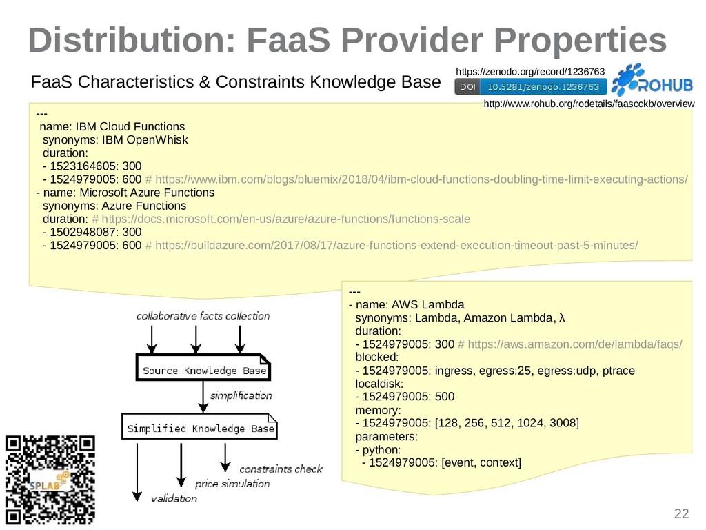 22 Distribution: FaaS Provider Properties --- n...