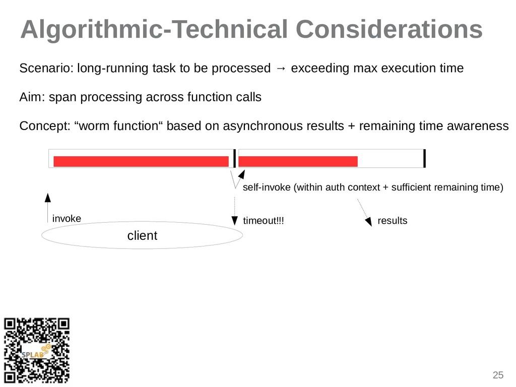 25 Algorithmic-Technical Considerations Sceniri...