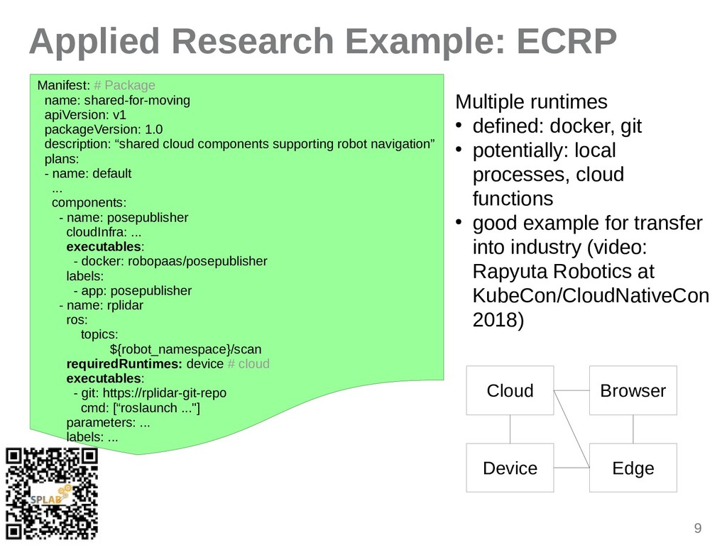 9 Applied Research Example: ECRP Minifest: # Pi...