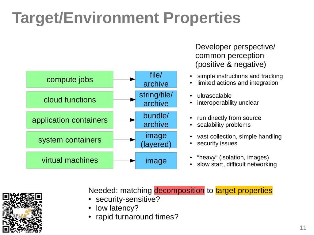 11 Target/Environment Properties compute jobs c...
