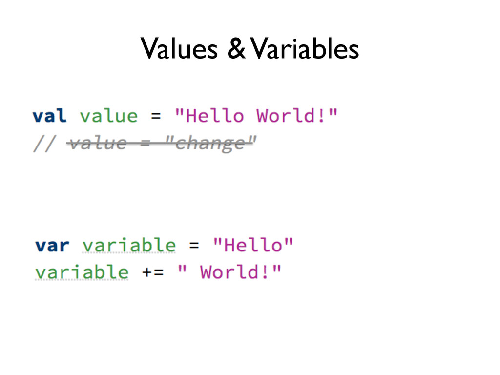 Values & Variables