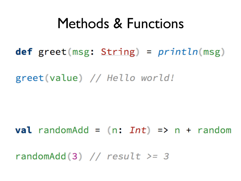 Methods & Functions