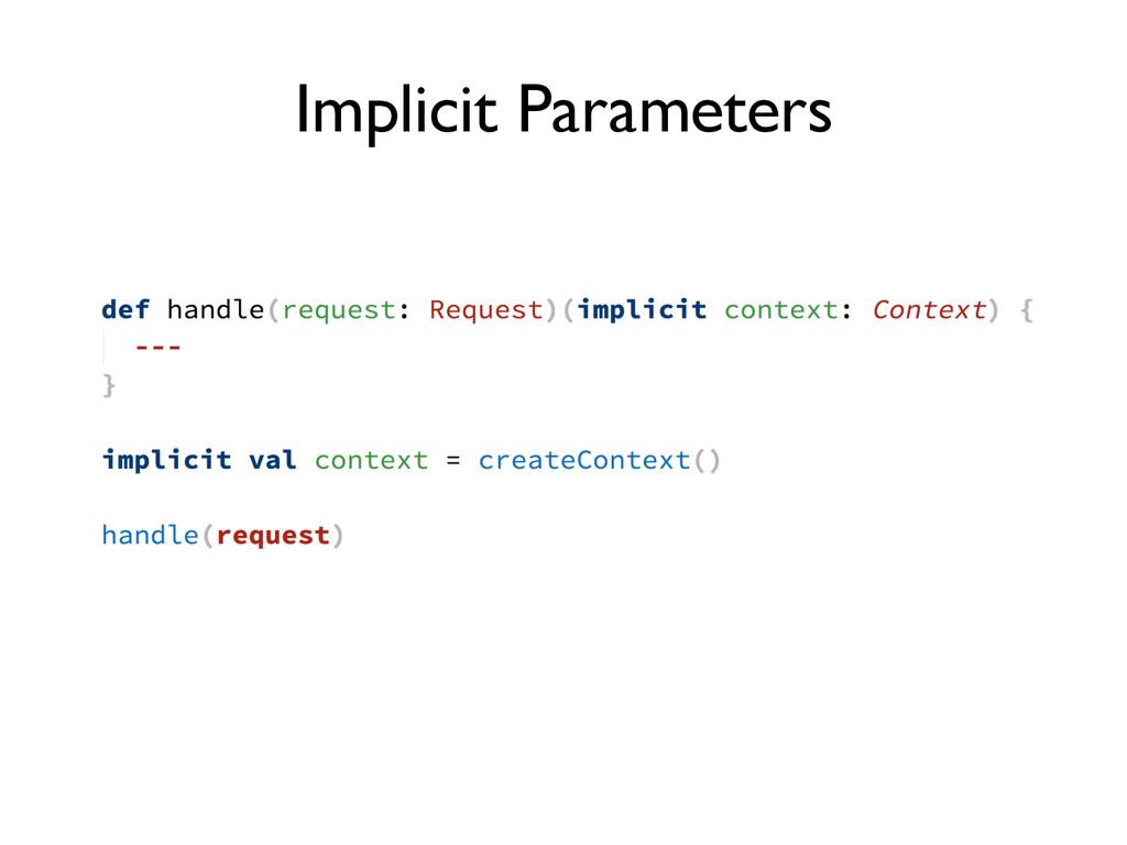 Implicit Parameters