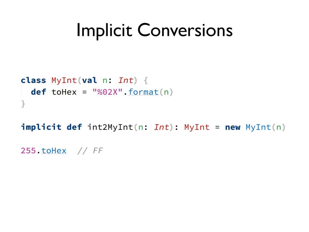 Implicit Conversions