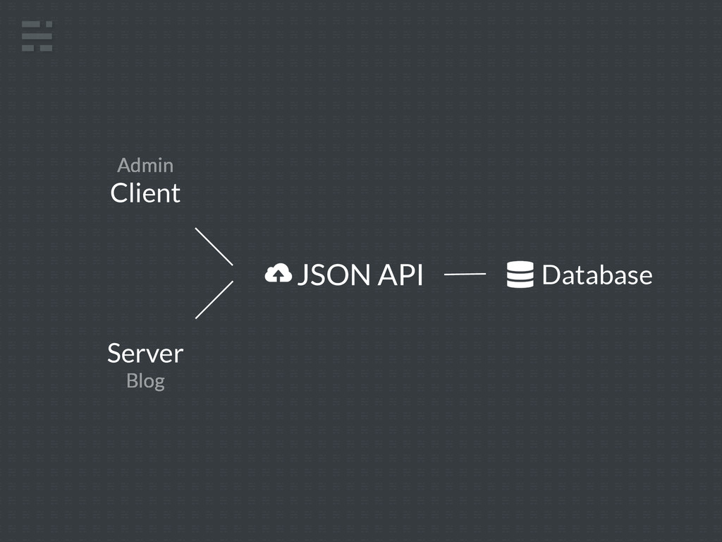 JSON API Client Server Blog Database Admin