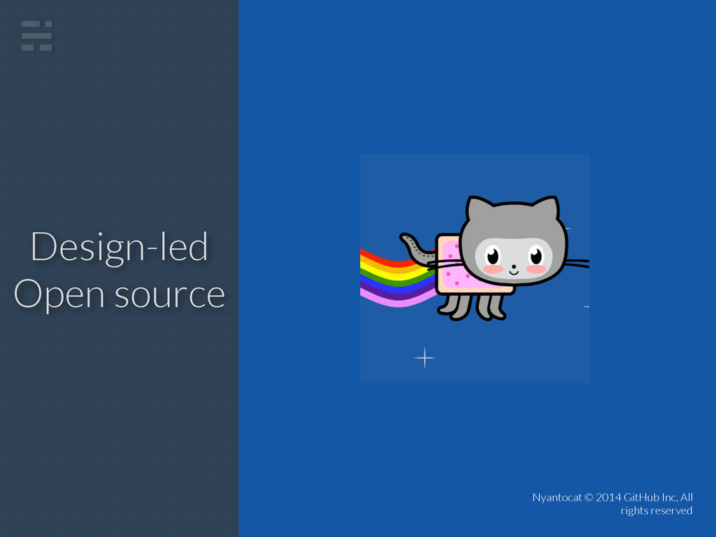 Design-led Open source Nyantocat © 2014 GitHub ...