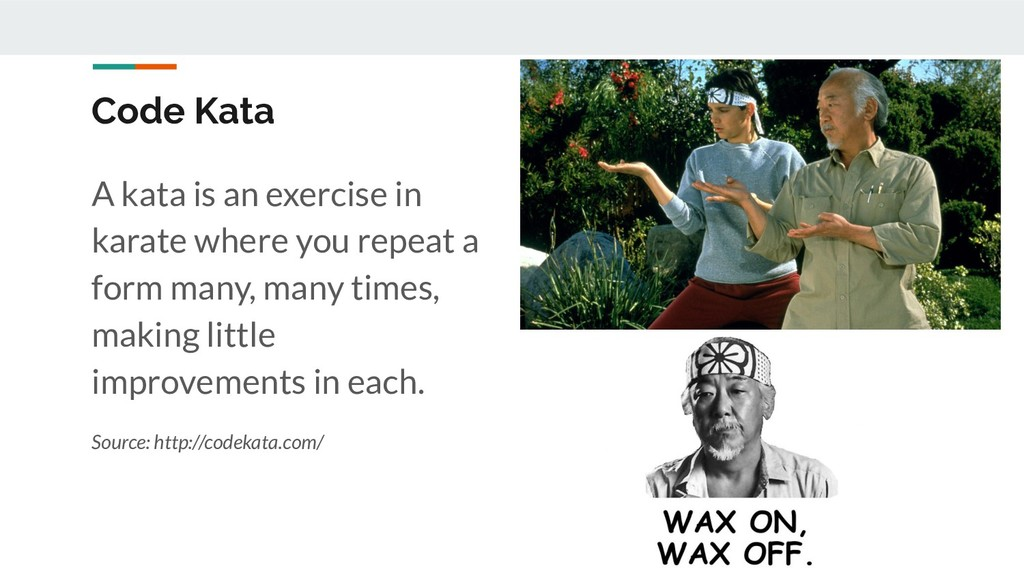 A kata is an exercise in karate where you repea...