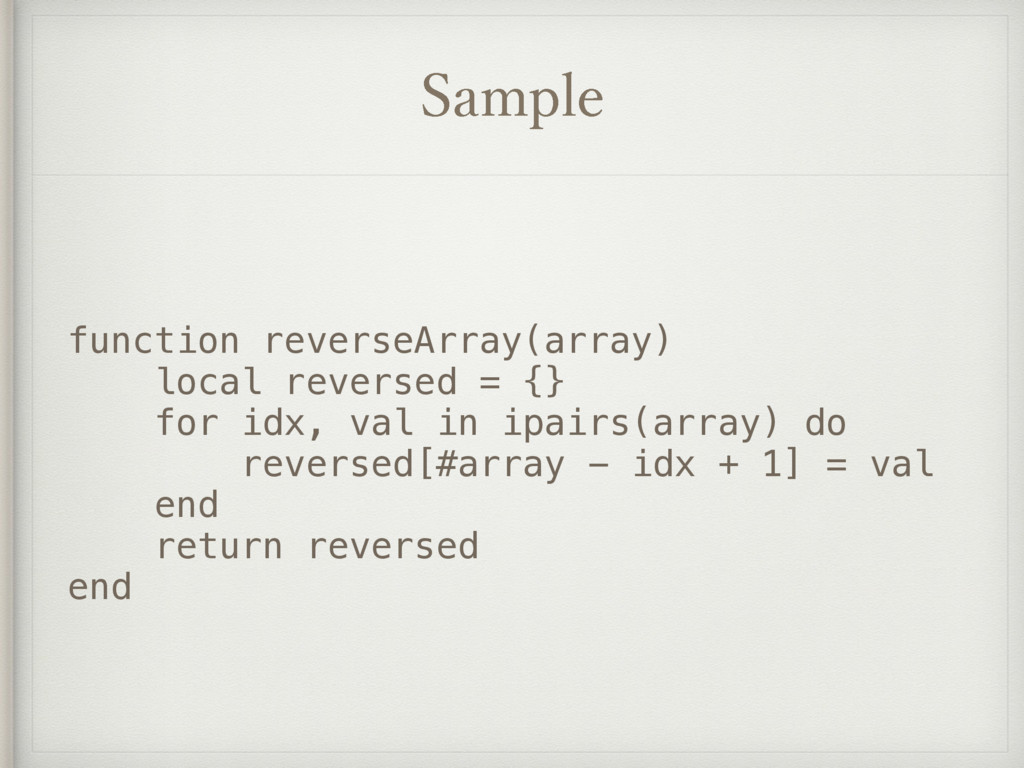 4BNQMF function reverseArray(array) local rever...