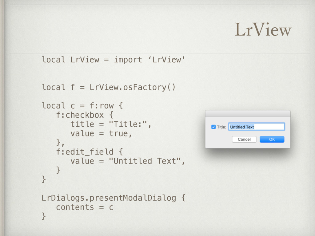 -S7JFX local LrView = import 'LrView' local f =...