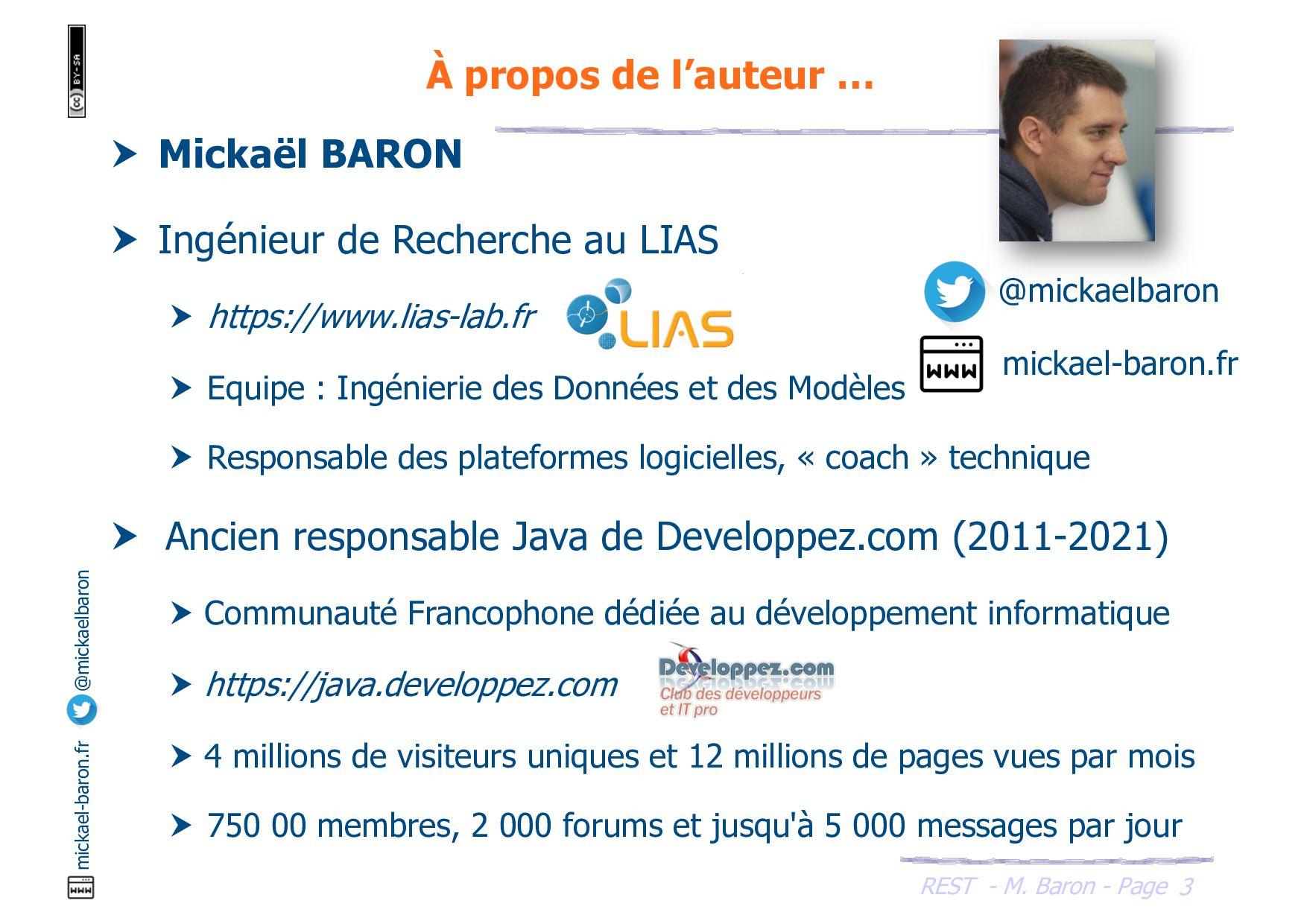REST - M. Baron - Page mickael-baron.fr @mickae...