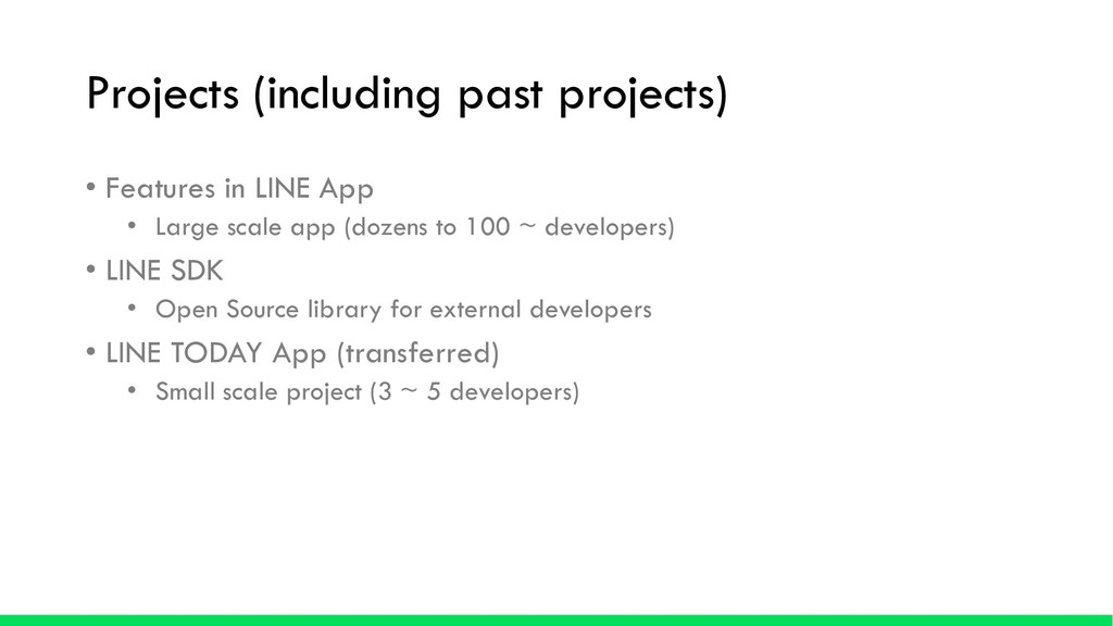 Projects (including past projects) • Features i...