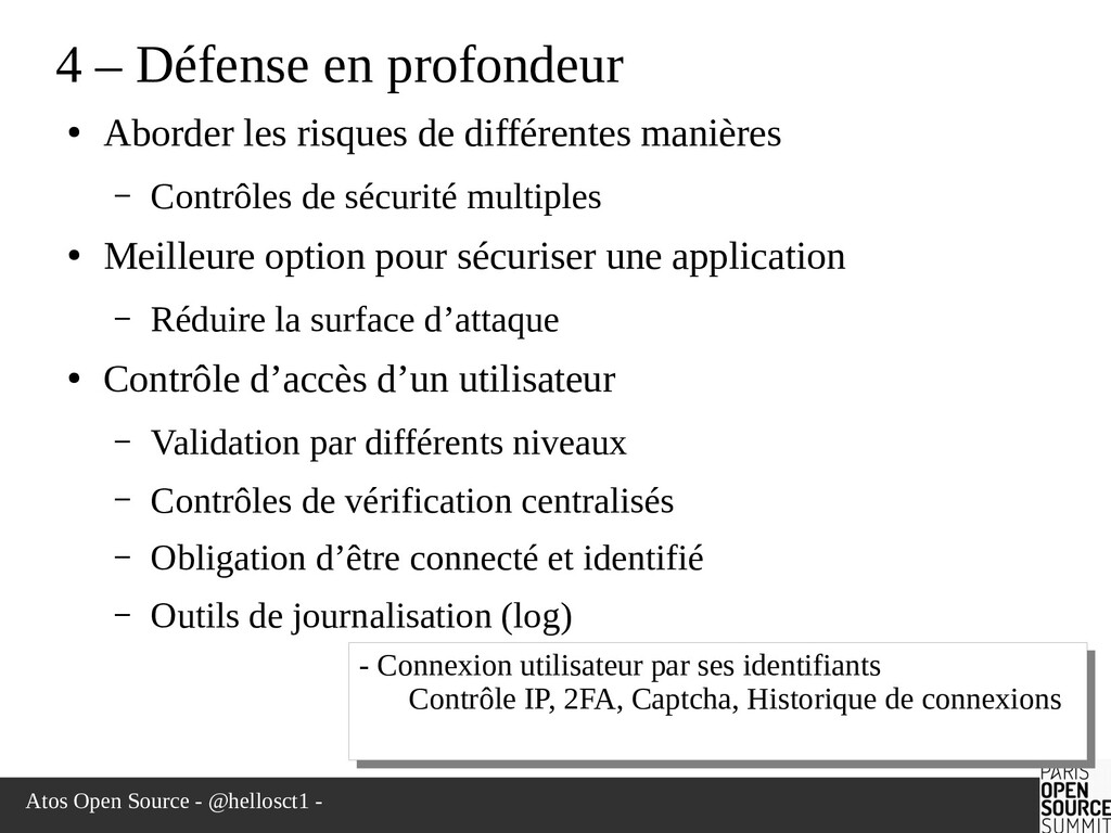 Atos Open Source - @hellosct1 - 4 – Défense en ...