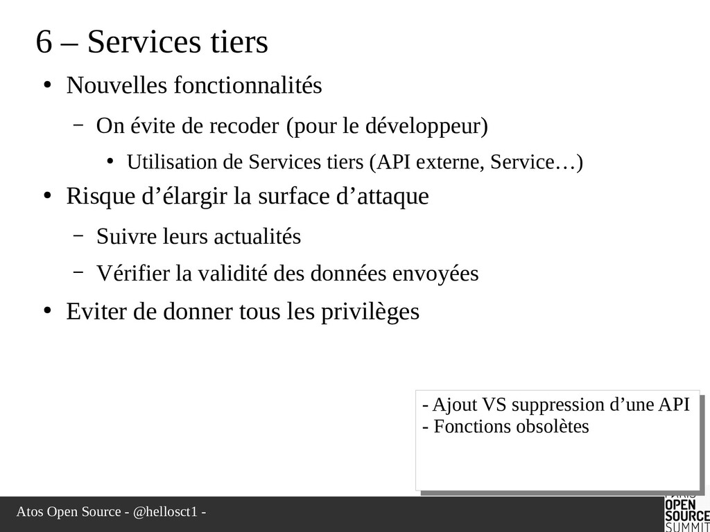 Atos Open Source - @hellosct1 - 6 – Services ti...