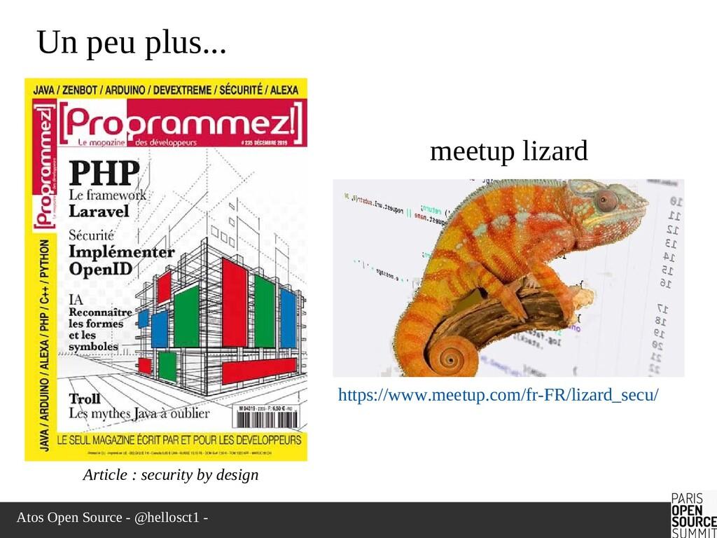 Atos Open Source - @hellosct1 - Un peu plus... ...