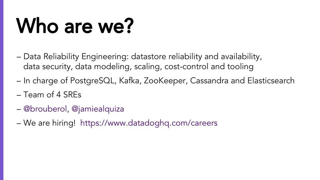 – Data Reliability Engineering: datastore relia...