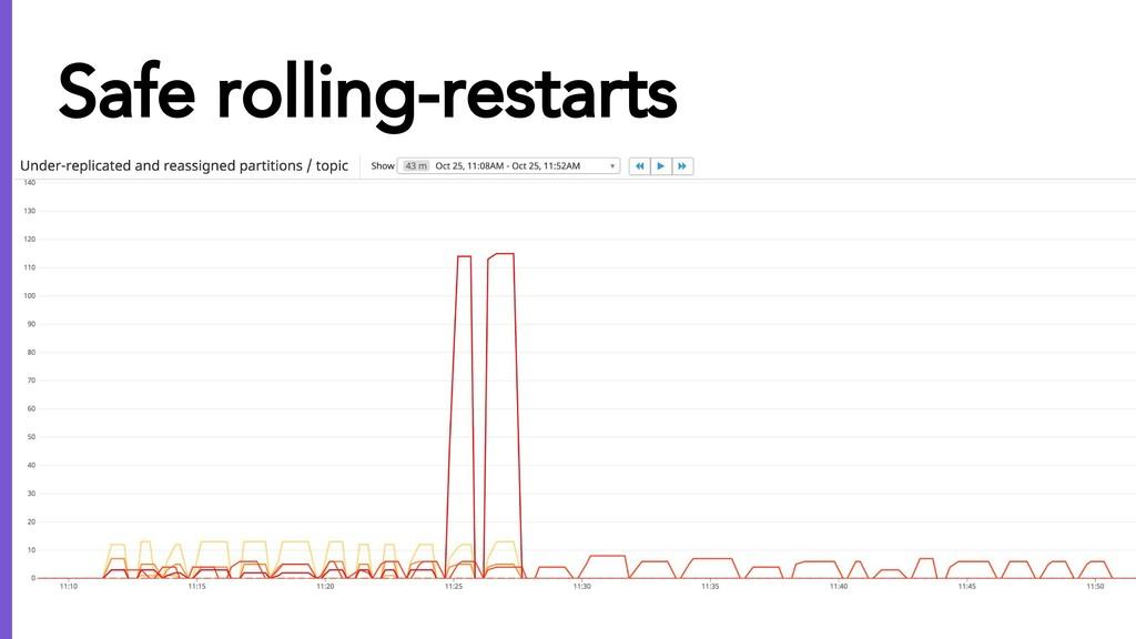 Safe rolling-restarts