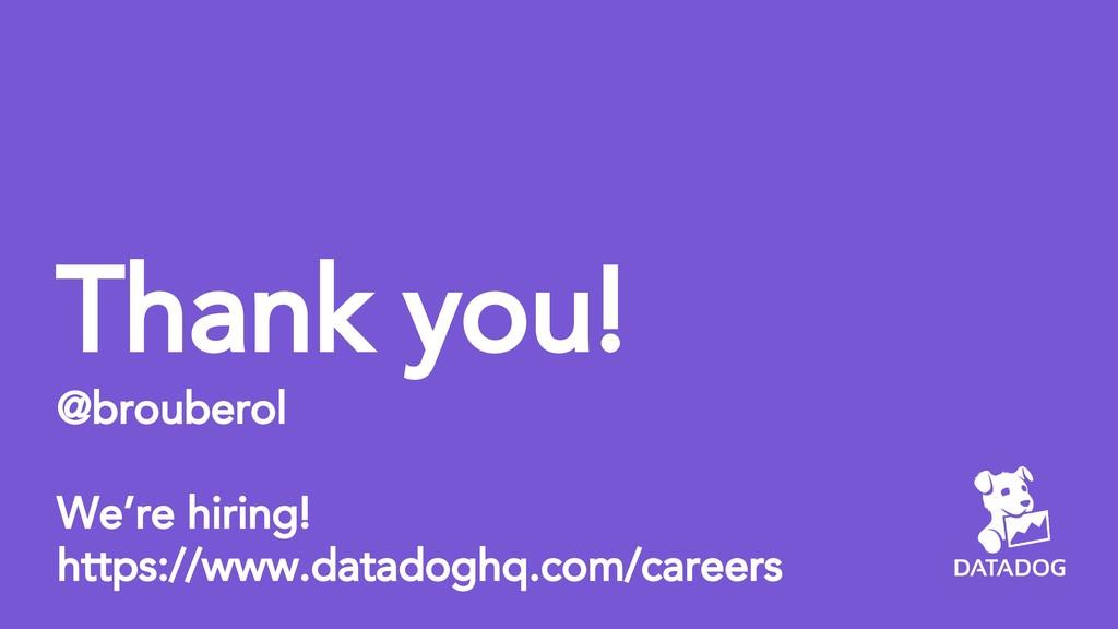 Thank you! @brouberol We're hiring! https://www...