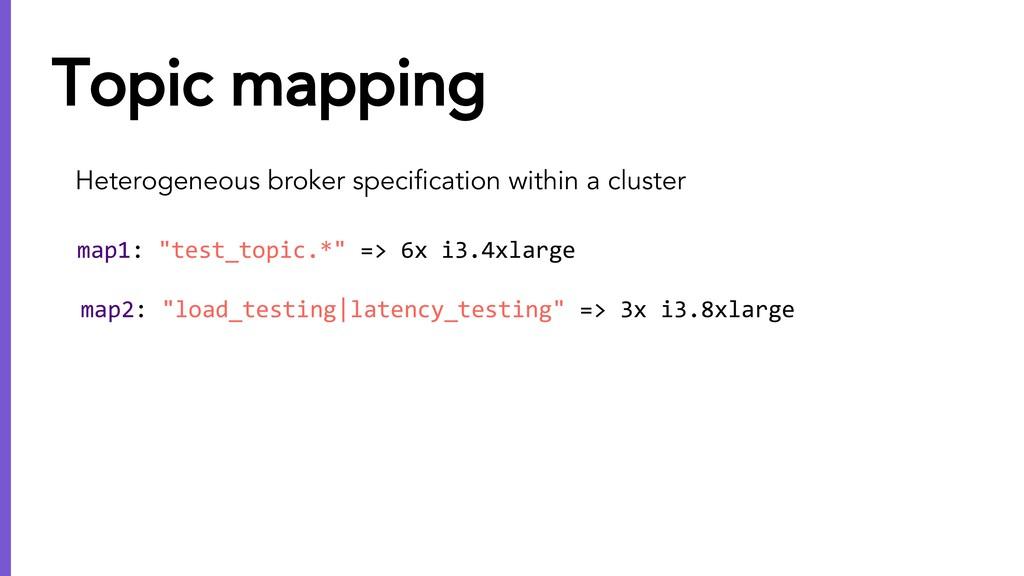 Heterogeneous broker specification within a clu...