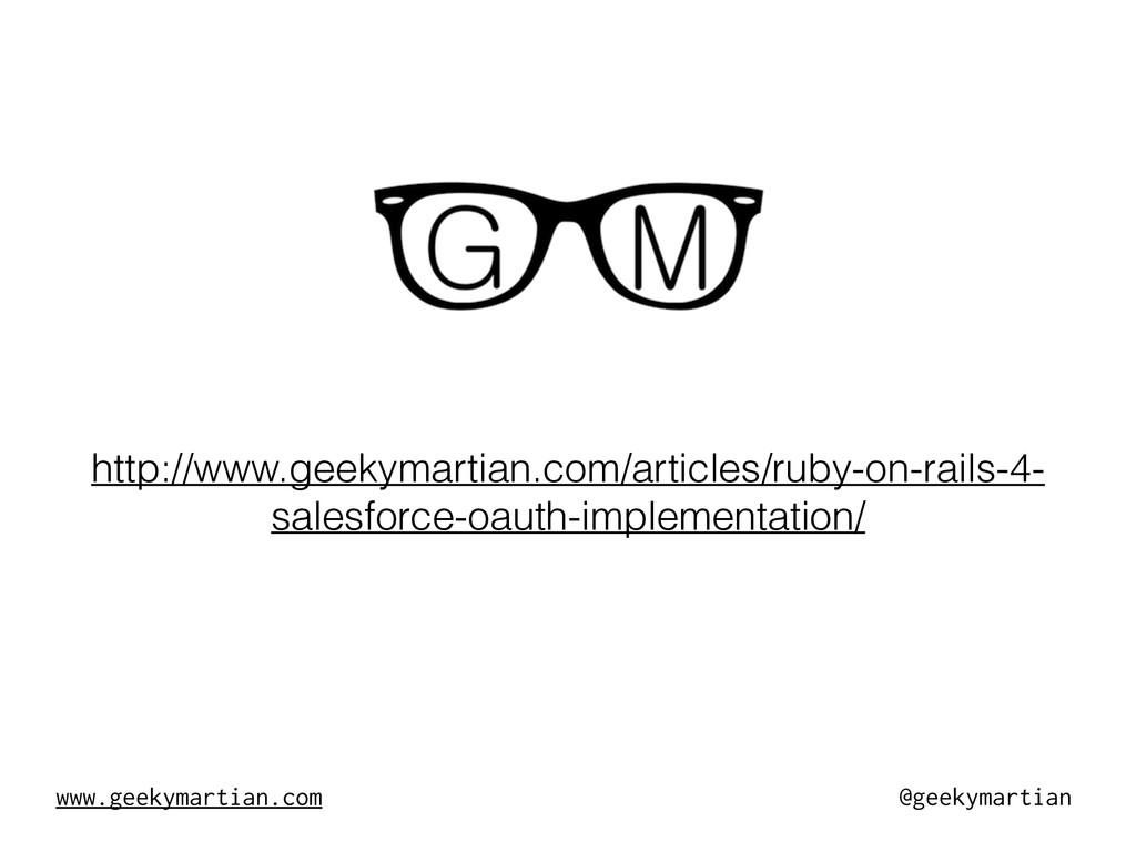 www.geekymartian.com @geekymartian http://www.g...
