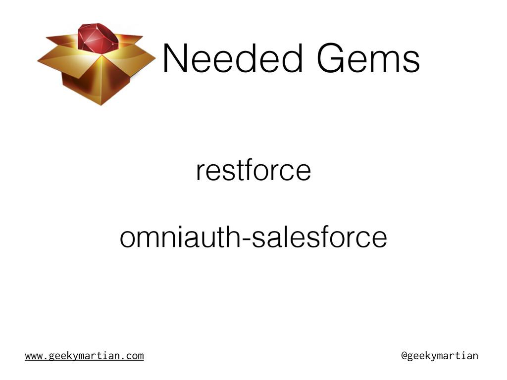 www.geekymartian.com @geekymartian Needed Gems ...