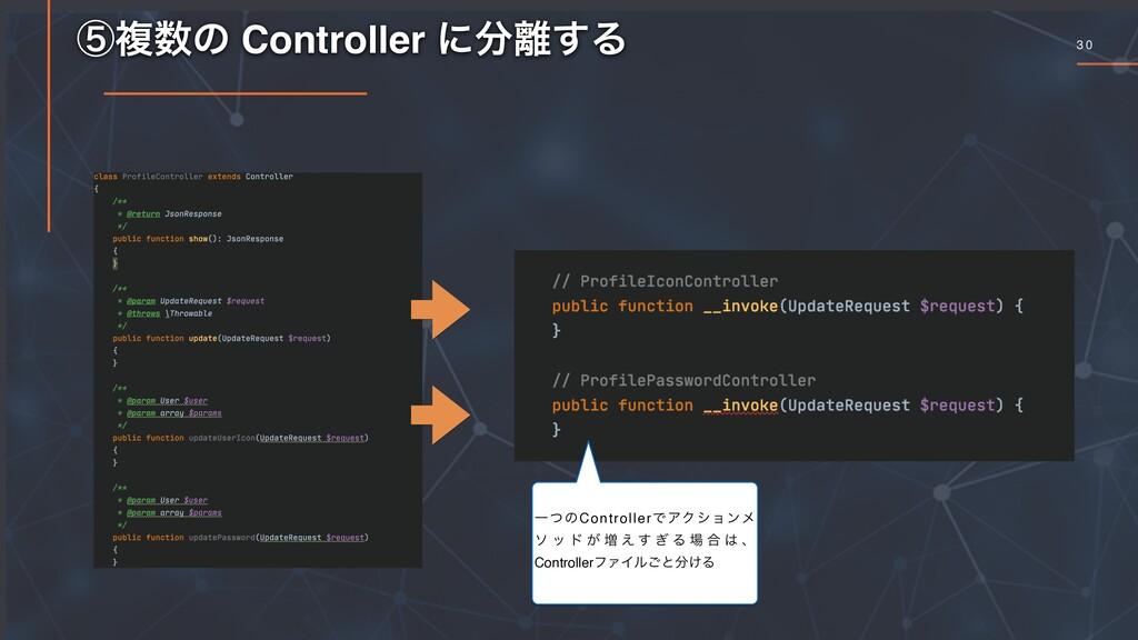 3 0 ᶇෳͷ Controller ʹ͢Δ ҰͭͷControllerͰΞΫγϣϯϝ ...