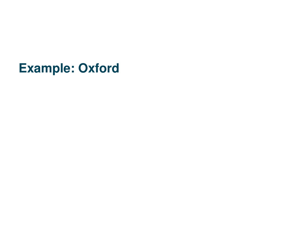 Example: Oxford
