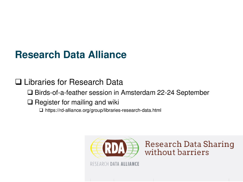 Research Data Alliance  Libraries for Research...